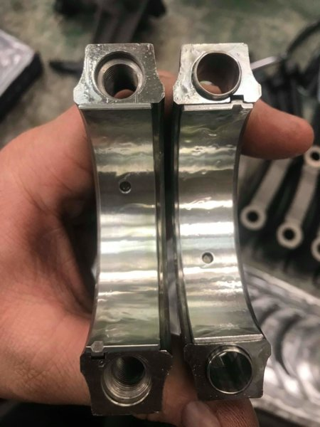 Bearing surface check after turning crank.jpeg