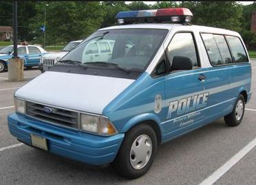 Ford Aerostar police vehicle..JPG