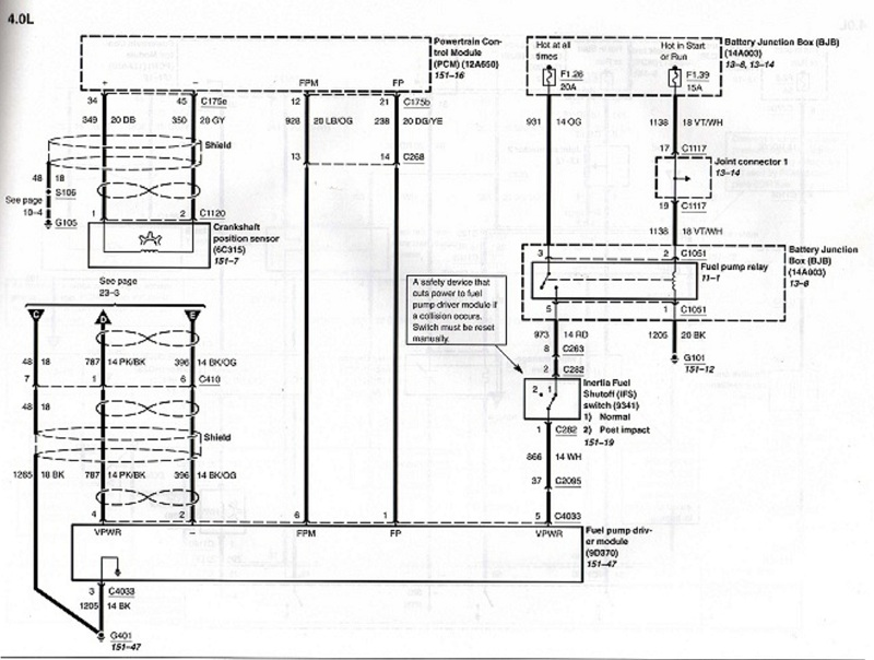2004 Ford Explorer Fuel Pump Driver Module Wiring Diagram