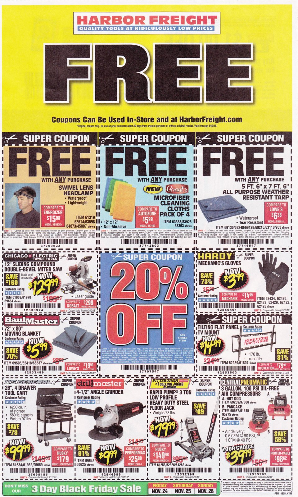 Harbor Freight coupons which are good until 3-12-2018..jpg