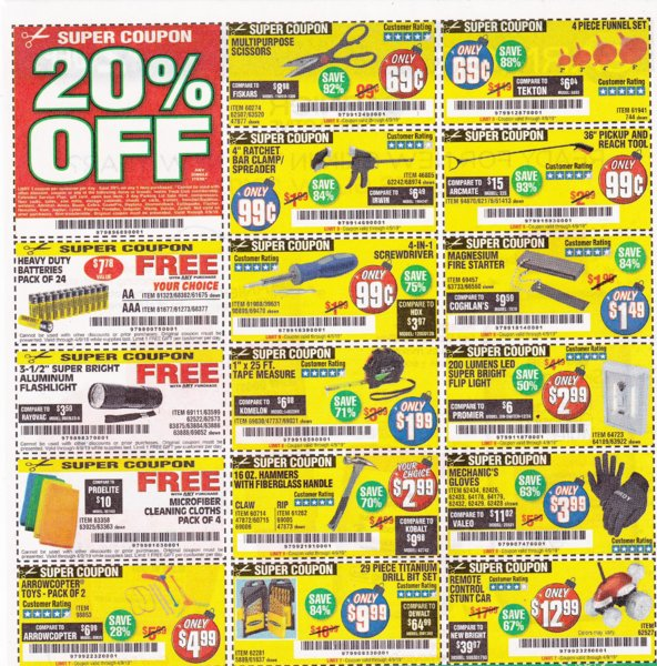 harbor freight free coupons for 2019