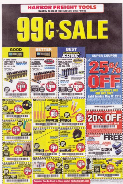 Harbor Freight coupons which are good until 9-5-2019. Page 2..jpg
