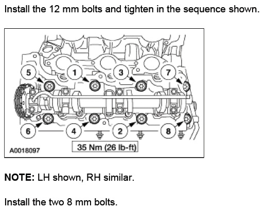 Solved Sohc V6 Torque Specifications Ford Explorer And