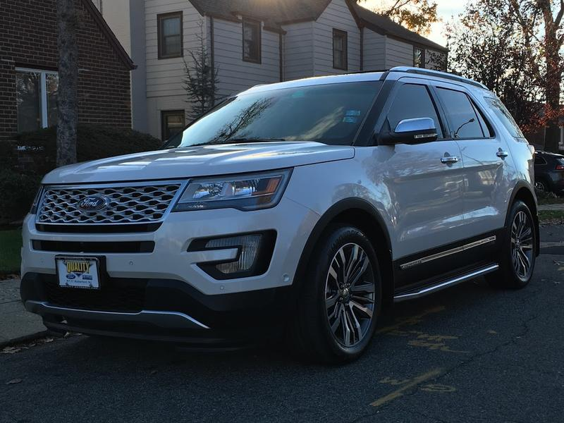 My 2016 White Explorer Platinum With Photos Ford