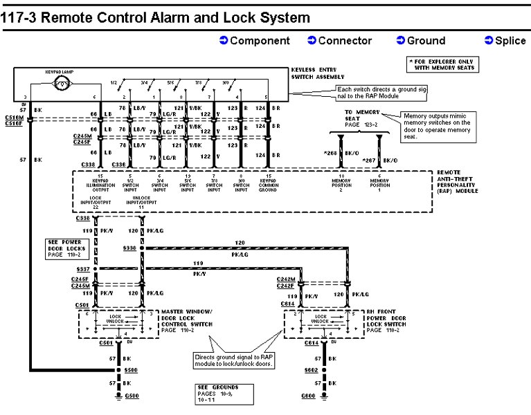 door lock wiring diagram ford explorer and ford ranger forums Door Lock Relay Wiring at gsmx.co