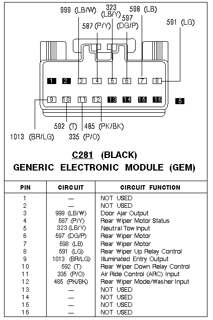 Wiring Diagram For 1997 Ford Explorer Radio - Circuit and ...