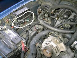 Location of the fuel pump relay Ford Explorer and Ford