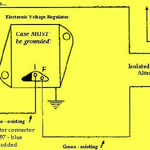 Chrysler external negative regulator wiring diagram.