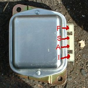 External Ford positive regulator.