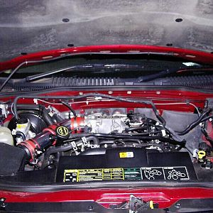 Engine Bay with bling intake pipe
