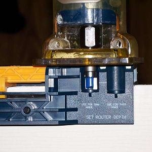 Router bit depth gauge.