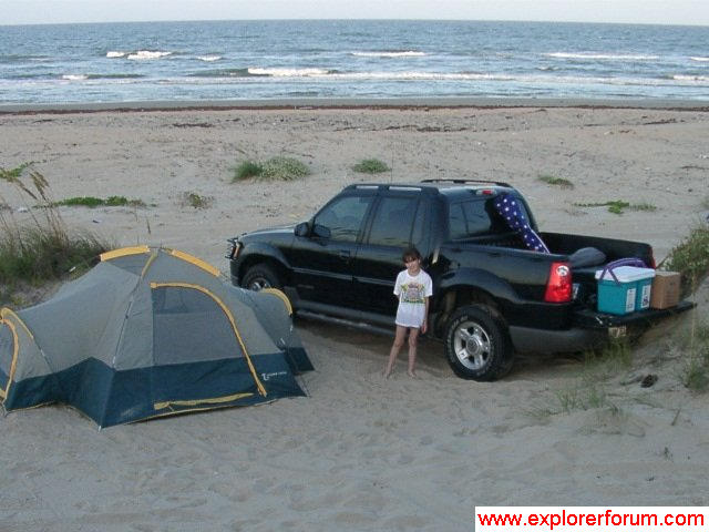 Camping on Padre Island, TX