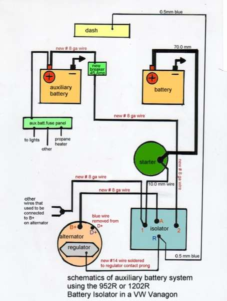 Dual battery schematic diagram.