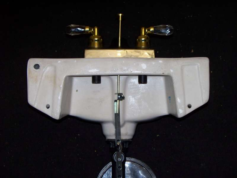 Rear Of The Sink With Pop Up