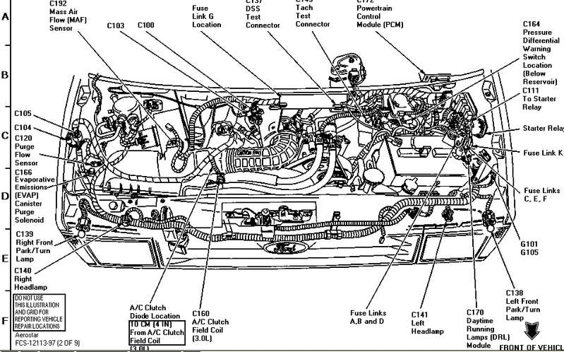 Aerostar engine bay diagram. | Ford Explorer - Ford Ranger Forums - Serious  ExplorationsSerious Explorations