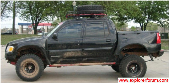 3 body lift soa warrior shackles and no front suspension lift please note that this is when my truck had flared fiberglass fenders - Ford Explorer Sport 2001 Lifted