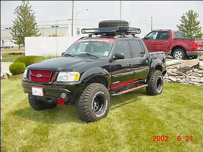 and i took a sawzall and cut away anything that i thought was in the way - Ford Explorer Sport 2001 Lifted