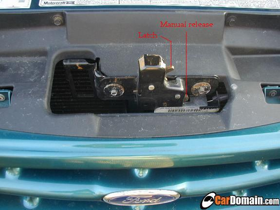 Mercury mountaineer hood wont open