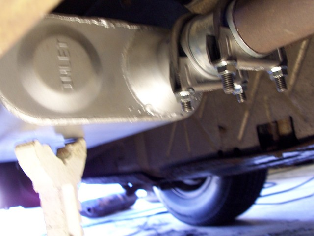 [ IMG] After that slide the exhaust pipe ... & How To Install A Flowmaster Muffler (w/Pics) | Ford Explorer and ...