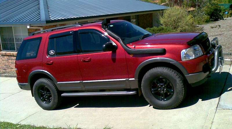 ford explorer galpin photo gallery - Red Ford Explorer Black Rims